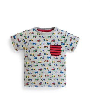 32f06c2871b Виж актуална цена · JoJo Maman Bebe Десенирана тениска с джоб на гърдите  E1077-MAR