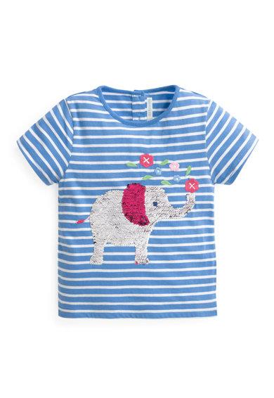97d7017e57f JoJo Maman Bebe Раирана тениска с двулицеви пайети D8889-COR - Виж ...